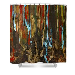 Vertical Shower Curtain by Olga Zamora