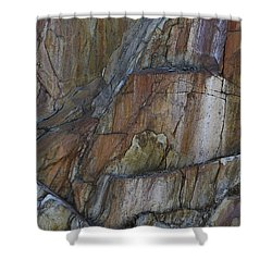 Shower Curtain featuring the photograph Vertical Strata by Nadalyn Larsen