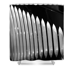 Shower Curtain featuring the photograph Vertical Vents by Rebecca Davis