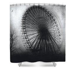 Vertigo Shower Curtain by Taylan Apukovska