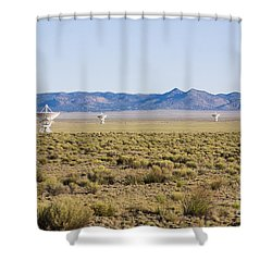 Very Large Array Shower Curtain by Steven Ralser