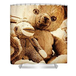 Very Old Friends Shower Curtain by Valerie Reeves