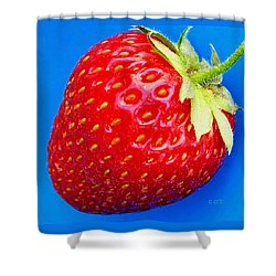 Very Strawberry  Shower Curtain by Chris Berry