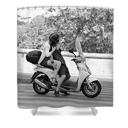 Vespa Romance Shower Curtain