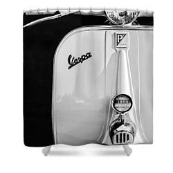 Vespa Scooter -0748bw Shower Curtain