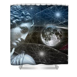 Vestal Moon Shower Curtain by Rosa Cobos