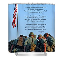 Veterans Remember Shower Curtain
