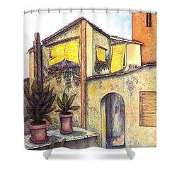 Via Roma Shower Curtain by Pamela Allegretto
