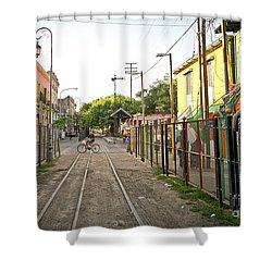 Shower Curtain featuring the photograph Vias De Caminito by Silvia Bruno