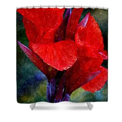 Vibrant Canna Bloom Shower Curtain