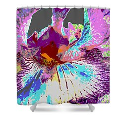 Vibrant Petals Shower Curtain by Sally Simon