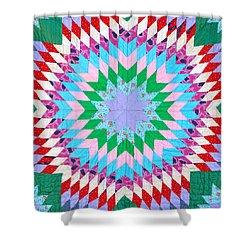 Vibrant Quilt Shower Curtain
