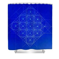 Vibrating Space Time Shower Curtain by Jason Padgett