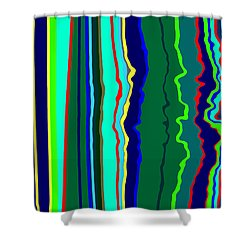 Vibrato Stripes  C2014  Shower Curtain