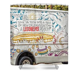 Vic And Nat'ly And The Leidenheimer Po-boy Truck - New Orleans Shower Curtain by Kathleen K Parker