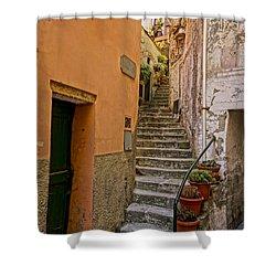 Vicolo Della Valle Riomaggiore Italy Dsc02537  Shower Curtain
