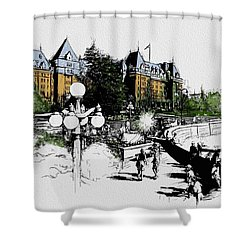 Victoria Art 001 Shower Curtain by Catf