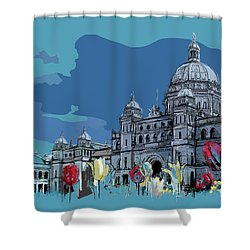 Victoria Art 007 Shower Curtain by Catf