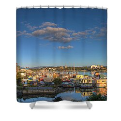 Victoria Bc Fisherman's Wharf Shower Curtain by Jit Lim