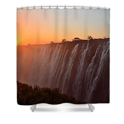 Victoria Falls At Sunset Shower Curtain