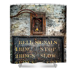 Victorian Bell Sign Shower Curtain by Adrian Evans
