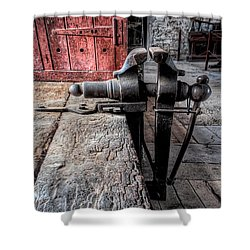 Victorian Bench Vice Shower Curtain by Adrian Evans