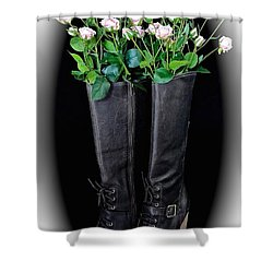 Victorian Black Boots Shower Curtain