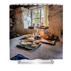 Victorian Cottage Breakfast Shower Curtain by Adrian Evans