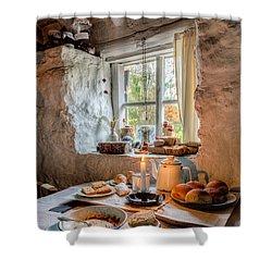 Victorian Cottage Breakfast V.2 Shower Curtain by Adrian Evans