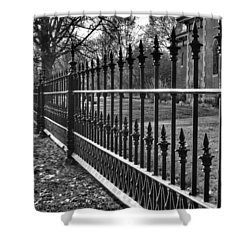 Victorian Fence Shower Curtain by Jane Linders