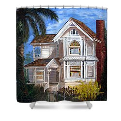 Shower Curtain featuring the painting Victorian House by LaVonne Hand