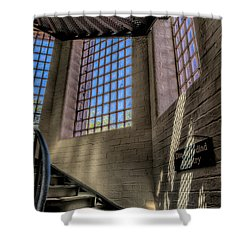 Victorian Jail Staircase Shower Curtain by Adrian Evans