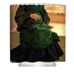 Victorian Lady Expecting A Baby Shower Curtain by Jill Battaglia