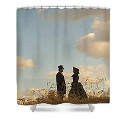 Victorian Man And Woman Shower Curtain by Lee Avison