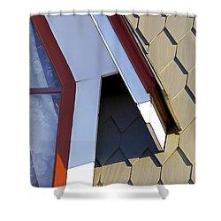 Victorian Red Wood Window IIi Shower Curtain