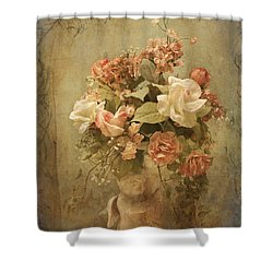 Victorian Rose Floral Shower Curtain
