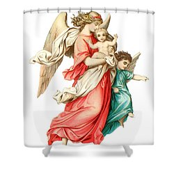 Victorian Scrap Relief Of The Christ Child Shower Curtain by English School