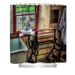 Victorian Wash Room Shower Curtain by Adrian Evans