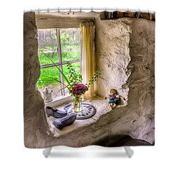 Victorian Window Shower Curtain by Adrian Evans