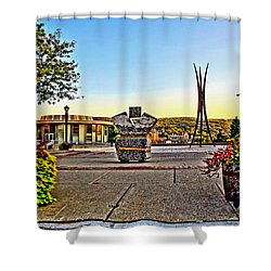 Victorii Rebuild - A 911 Memorial Shower Curtain