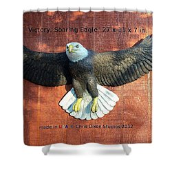 Victory - Soaring Eagle Statue Shower Curtain by Chris Dixon