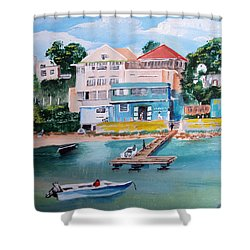 Vieques Puerto Rico Shower Curtain by Luis F Rodriguez