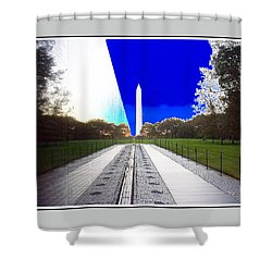 Viet Nam Memorial And Obelisk Shower Curtain
