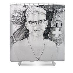 Vietnam Medic Shower Curtain by Scott and Dixie Wiley