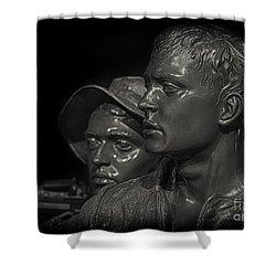 Vietnam Memorial No. 1 Shower Curtain by Jerry Fornarotto