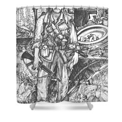 Vietnam Soldier Shower Curtain by Scott and Dixie Wiley