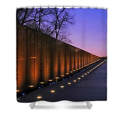 Vietnam Veterans Memorial At Sunset Shower Curtain