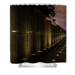 Vietnam Veterans Memorial Shower Curtain