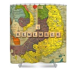 Vietnam War Map Shower Curtain