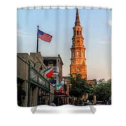 View Down Church Street Shower Curtain